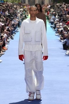 5e3d86c89fd0 Look from the Men s Spring-Summer 2019 Fashion Show by Louis Vuitton s new  men s artistic