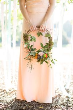 summer wooden wedding wreath ideas