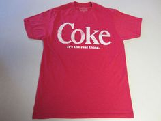 Coca Cola Shirt M Medium SS Short Sleeve Red Coke It's the Real Thing #CocaCola #GraphicTee