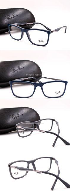 783ff8172ca80 Eyeglass Frames  Ray Ban 7029 5260 Mens Eyeglasses Optical Frame Glasses  Matte Blue ~ Gunmetal 55 -  BUY IT NOW ONLY   74.95 on eBay!