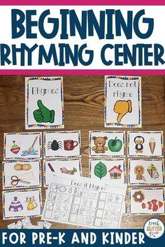 Science Lessons For First Grade Pictures 66 Ideas Rhyming Preschool, Rhyming Activities, Preschool Learning, Autism Activities, Learning Games, Toddler Activities, Community Helpers Kindergarten, Kindergarten Centers, Literacy Centers