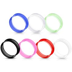 1 Pair Saw Blade Thick Flexi Silicone Tunnels Ear Plugs Gauges You Pick Size
