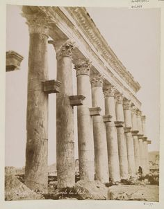 Prostyle of Corinthian columns surrounding the Temple of Bel