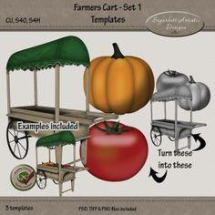 Farmers Cart Set 1 Templates