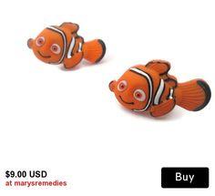 Limited Edition Disney Earrings in Handmade  Finding Nemo Earrings  in handmade childrens earrings womens earrings Nemo