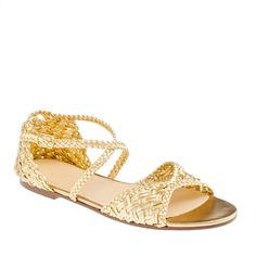 These Collection metallic woven sandals would be great on a vacation! Just throw on with a pair of cutoffs and a white perfect shirt! #jcrew #myshoestory