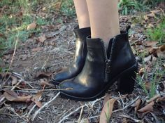 Le Blog de Sushi: outfits.  Black ankle boots for fall