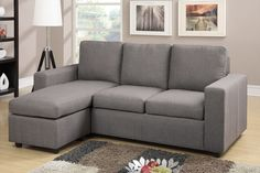 Reversible Sectional Sofa F7491 Modular design is featured in this modern sectional perfect for an den or office space. Sectional Sofa Sale for $319