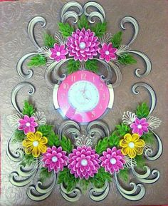 Quilling paper watch