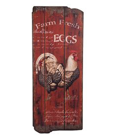 'Farm Fresh' Speckled Hen Wall Art