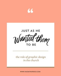 Graphic design does not turn your church into a megachurch, but a ...