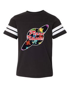 Kids Disney Graffiti Pizza Planet Football Tee