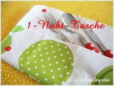 KINDERleicht und schön   Nähen mit Cherrygrön: 1-Naht-Täschchen aus Wachstuch
