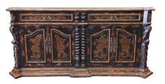 This Buffet with hand carved details makes a statement in your living room, hand forged iron handles, beautiful hand painted designs inspired with Tuscan Rustic designs, visit our website www.casabonitallc.com Hand Painted Furniture, Handmade Furniture, Unique Furniture, Furniture Ideas, Tuscan Furniture, Rustic Furniture, Rustic Design, Rustic Decor, Tuscan House