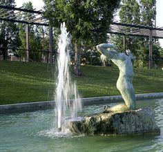 Parc de la Muntayeta. Sant Boi. Montserrat, Waterfall, Outdoor, Barcelona Spain, St Andrews, Palmas, Bass, Outdoors, Waterfalls