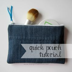 Quick & Easy Zipper Pouch Tutorial | She's Got the Notion