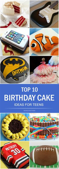 Is your teen's birthday approaching? Are you looking for some birthday cake ideas to please your super-fussy teen? We list out 10 teen birthday cake ideas.