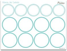 Printable Mason Jar Label Lids Canning Jars Labels Free