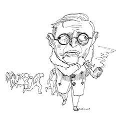 TIL Jean-Paul Sartre turned down the Nobel Prize for Literature Jean Paul Sartre, Satire, Writer Memes, New Lyrics, Nobel Prize In Literature, Somebody To Love, Albert Camus, Figurative Art, Caricatures