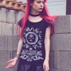 4bc2cc6efe400 Yoga shirt - Hey Sunshie Black - Positive vibes, Spiritual clothes, vibe,  good vibes, trendy graphic tee, hippie boho clothes,