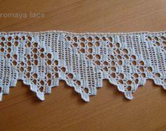 Handmade lace crochet trim Pearl lace crochet by romayacrochet