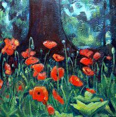 Chanticleer  Wayne Poppies Path Of Life 4 by MoniqueKenSarkessian, $1792.00