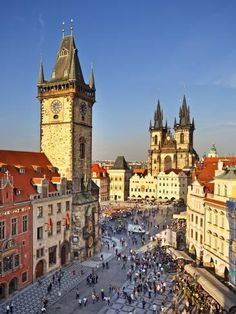 Europe, Czech Republic, Central Bohemia Region, Prague, Prague Old Town Square, Tyn Church Fotoprint