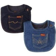 baby bibs, denim for your mom Jean Crafts, Denim Crafts, Baby Sewing Projects, Sewing For Kids, Denim Ideas, Recycled Denim, Baby Kind, Baby Crafts, Baby Patterns
