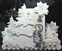 Bunny Zoe's Crafts: White on White with Marianne Designs