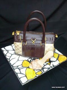 Gucci Designer Handbag & Shoe cake