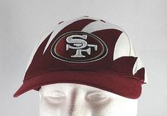 b83d2dfbb41d34 San Francisco 49ers White/Red NFL Baseball Cap Adjustable | Clothing, Shoes  &