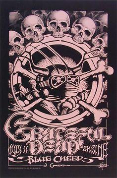 Rick Griffin Grateful Dead Poster http://www.dking-gallery.com/store/GRI_DeadShrine_pin.html