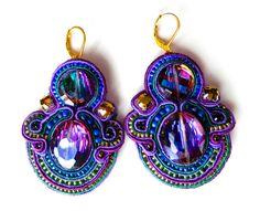THE BEETLES soutache earrings in purple and by BlackMarketJewels, £60.00
