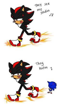 hehe ;D well he does have some cool shoes that let him do that