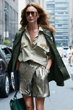 09/25/13: Ece Sukan's military-inspired street style.