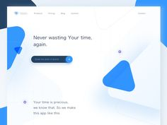 A Landing page for Project Management application.  We're ready for a new collaboration!