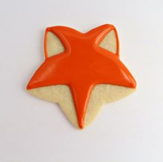 Here's using cookie cutters creatively. Fox face from a simple star