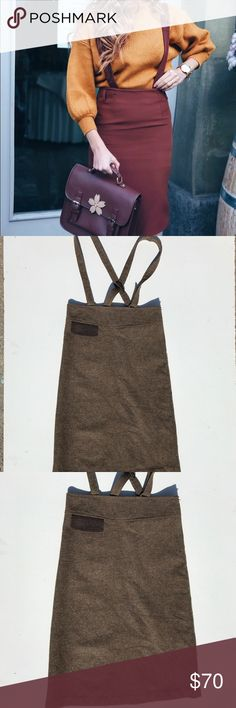 """Women's Vtg tweed suspender pencil skirt Purchased at an estate sale in Beverly Hills. In impeccable condition no rips or tears hardly looks worn at all. Would fit a size 24"""" or  25"""" waist best. And probably somebody who is 5'3 to 5'5 Ideally. Originally picked up for myself I am a waste 26 for reference and 5'4.  it was a little snug in my waist however the suspenders fits good on me. ***Tagged in Madewell for views only ****** initial picture is for inspiration only. Simply stunning very…"""
