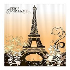CafePress Eiffel Tower Paris Shower Curtain - Standard White CafePress,http://www.amazon.com/dp/B00I9Y9BK4/ref=cm_sw_r_pi_dp_-yoDtb1QD87MR4VZ These would look cool even in a bedroom!