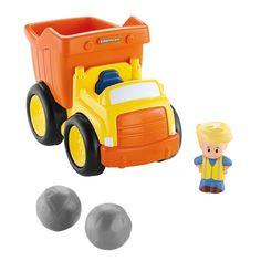 Rij maar naar de bouwplaats met de kiepauto! De Fisher-Price Little People Kiepauto met geluidjes en muziek bevordert de fantasie en staat garant voor een heleboel speelpret! Kinderen kunnen de laadklep vullen met de twee keien of andere spullen en de lading vervolgens naar de bouwplaats (beter bekend als de huiskamer) rijden. Als de auto gaat kiepen hoor je een grappig melodietje en realistische truckgeluiden! Kiepauto inclusief Little People figuur Eddie en twee keien om in te laden…