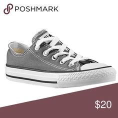 Grey Chuck Taylors Size 4 mens, and 6 women's. Grey low top unisex converse. NO TRADES Converse Shoes Sneakers