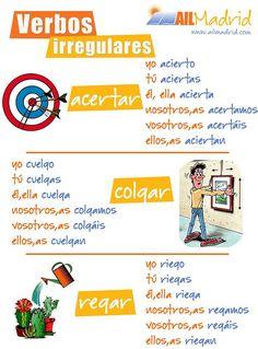 Hay un montón de verbos irregulares en #español. ¡Te ayudamos a aprenderlos! #Spanish