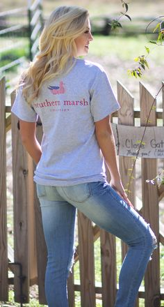 Authentic Flag in Light Gray Lakeside Cotton, Marley Lilly, Southern Marsh, Monogram Gifts, Jewelry Gifts, Flag, Grey, Unique, Clothes