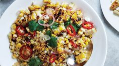 Charred and Raw Corn with Chile and Cheese Recipe | Bon Appetit