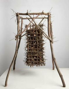 Sculpture using Eucalupt branches by Ken Unsworth