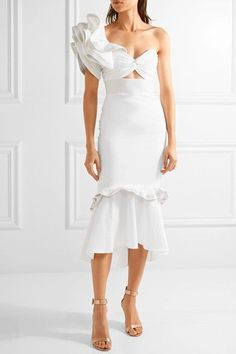 Off-white cotton-blend poplin Concealed zip fastening along back 97% cotton, 3% elastane Dry clean