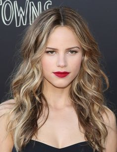 53de0674a0e6 halston sage paper towns red lipstick Messy Hairstyles