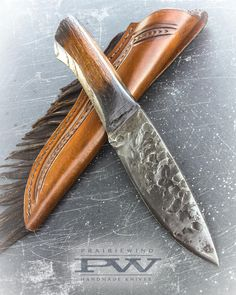 Prairiewind Hand Forged Knives and Custom Leather Works by PWTradeGoods Forging Knives, Hand Forged Knife, Knife Handles, Handmade Knives, Guns And Ammo, Knife Making, Custom Leather, Blade, Zombie Apocalypse
