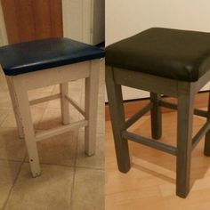 Before and after ❤ Bar Stools, Workshop, Furniture, Home Decor, Creative, Bar Stool Sports, Atelier, Decoration Home, Room Decor