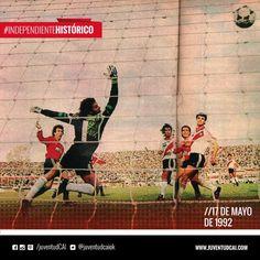 #IndependienteHistorico Clásico en la Doble Visera. #Independiente, empata 1 a 1 frente a River con gol de Craviotto